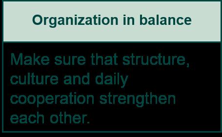 Organization in balance